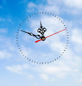 Clock on sky — Stock Photo
