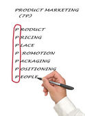 маркетинговый список продуктов — Стоковое фото