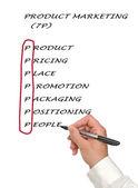 产品的市场营销列表 — 图库照片