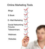 Online-marketing-tools — Stockfoto