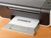 Printer isolated on white background — Stock Photo