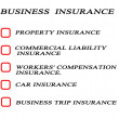 Check list for business insurance — Stock Photo #7580522