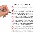 Stock Photo: Presentation of SEO checklist
