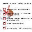 Check list for business insurance — Stock Photo #7784644