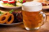 Cold mug of beer — Stock Photo