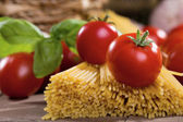 Fresh tomatoes with pasta — Stock Photo