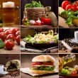 Stock Photo: Food and drink collection