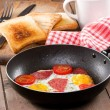 Breakfast with fried egg — Stock Photo #7299255