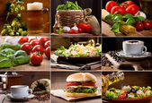 Food and drink collection — Stock Photo