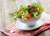 Salad with vegetables and greens — Foto de Stock