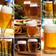 Stock Photo: Collage with glasses of beer