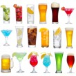 Stock Photo: Set of different drinks, cocktails and beer