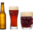 Set with different glasses of beer — Stock Photo