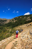 Bulgarian hikers — Stock Photo