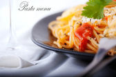 Pasta menu picture — Stock Photo