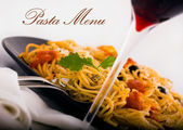 Pasta menu picture 2 — Stock Photo