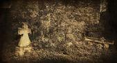 Gamla kyrkogård — Stockfoto