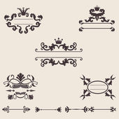 Set of vintage ornament, vector — Stock Vector