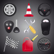 Set of automobile objects,vector — Stock Vector #7766774