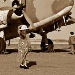 Pilot going off to war — Stock Photo