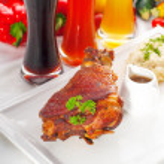Original German BBQ pork knuckle — Stock Photo #6863152