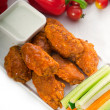 Buffalo chicken wings served with pinzimonio - Stock Photo