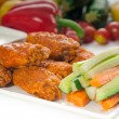 Buffalo chicken wings served with pinzimonio — Stock Photo