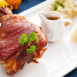 Stock Photo: Original GermBBQ pork knuckle