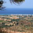 Olive groves around Kardamena as seen from the fortress Antimachia. — Stock Photo