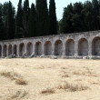 Asklepion place on the island of Kos where Hippocrates has built one of the - Stock Photo