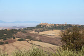 View of Pienza, just after sunrise. Tuscany, Italy — Stock Photo