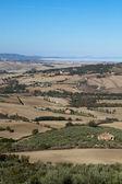 The hills around Pienza and Monticchiello Tuscany, Italy. — Stock Photo