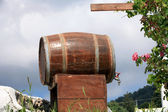 Old wine barrel waiting for a drink — Stock Photo