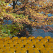 The harmonious composition of the amphitheater and autumn colors — Stock Photo