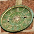 Krakow - clock face on the tower of the cathedral of Wawel - 图库照片