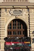 Grodzka street Krakow - the street trade is covering monuments — Stock Photo