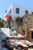 Traditional colors for Greek architecture — Stock Photo