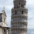 Pisa - Leaning Tower and Duomo in the Piazza dei Miracoli — Stock Photo