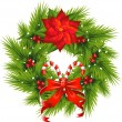 Christmas Wreath — Stock Vector #7524938