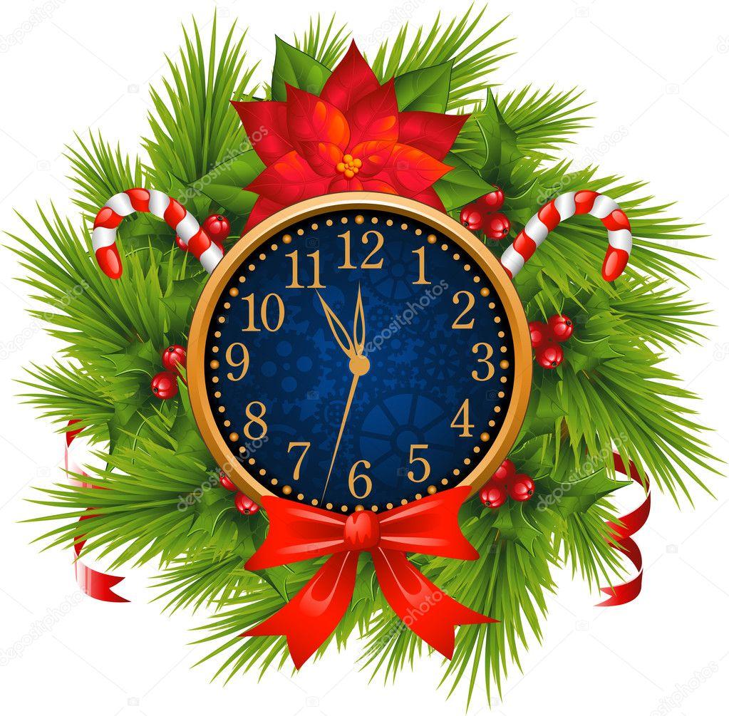 Как сделать красивые новогодние часы