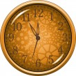 Stock Vector: Golden Clock