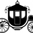 Stock Vector: Carriage in Silhouette