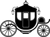 Carriage in Silhouette — Stock Vector