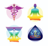 Yoga logo ideas — Stock Vector