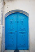 Blue old door — Stock Photo