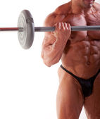 Bodybuilder exercising — Stock Photo