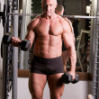 Bodybuilder training — Stockfoto