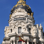 Building Metropolis, Madrid — Stock Photo