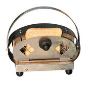 Retro toaster with bread — Stock Photo