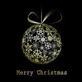 Altın christmas tebrik kartı — Stok Vektör